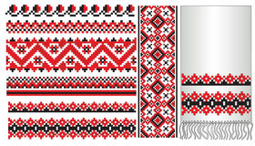 La configuration ukrainienne brodent Photos stock