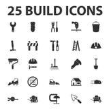 La configurazione, ripara 25 icone semplici nere messe royalty illustrazione gratis