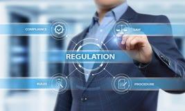 La conformità di regolamento governa il concetto standard della tecnologia di affari di legge fotografia stock