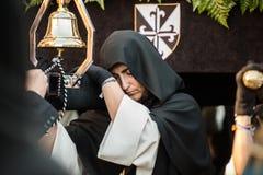 La confrérie dominicaine du Christ saint de la victoire, notre Madame du chapelet dans ses mystères douleureux image libre de droits