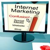 La confusión de la comercialización del Internet muestra SEO Foto de archivo libre de regalías