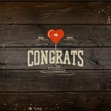 La congratulazione badges le carte e le etichette per c'è ne uso Immagini Stock