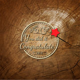 La congratulazione badges le carte e le etichette per c'è ne uso illustrazione vettoriale