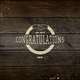 La congratulazione badges le carte e le etichette per c'è ne uso Immagine Stock Libera da Diritti
