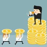La conjoncture économique illustration stock