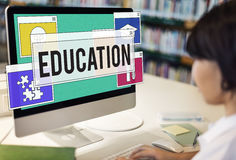 La connaissance d'éducation étudiant apprenant le concept d'intelligence photographie stock