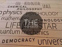 La connaissance de mot écrite sur les mots de la connaissance photos libres de droits