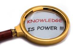 La connaissance est pouvoir Image stock