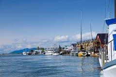 La Conner Jachthafen Stockbilder