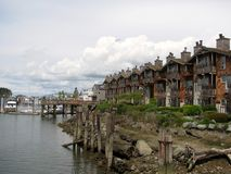 Swinomish Channel at La Conner, Washington. La Conner is a town in Skagit County, Washington, United States Stock Images