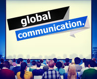 La connexion de télécommunications mondiales communiquent le concept illustration libre de droits