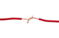 La connexion rouge de fil Photo stock