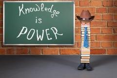 La conoscenza è concetto divertente di istruzione di potere Fotografia Stock