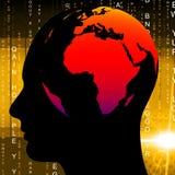 La conoscenza umana significa la globalizzazione globale e globalizza Fotografie Stock Libere da Diritti