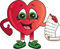 Lista di controllo sana del cuore Fotografia Stock