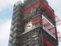 La conservazione di Big Ben funziona a Londra Immagine Stock