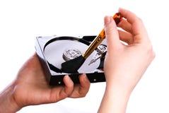 La conservazione pulisce il vostro disco rigido Immagini Stock Libere da Diritti