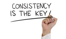 La consistencia es la llave Imágenes de archivo libres de regalías
