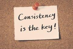 La consistencia es la llave fotos de archivo