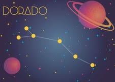La constelación Dorado ilustración del vector