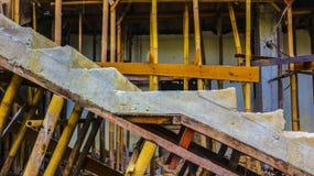 La construcción de la casa está procesando Imagen de archivo