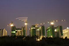 Construcción de edificios en el capital Imagen de archivo