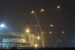 La construcción de los estadios para el mundial en 2018 Foto de archivo