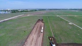 La construcción de la pista