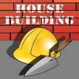 La construcción de viviendas significa el ejemplo casero de la construcción 3d Fotografía de archivo