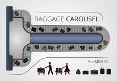 La construcción del carrusel del equipaje foto de archivo libre de regalías