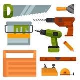 La construcción equipa el ejemplo del vector de la manitas de la renovación de la casa del equipo del trabajador stock de ilustración