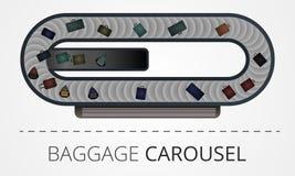 La construcción moderna del carrusel del equipaje imagen de archivo libre de regalías