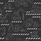 La construcción pesada trabaja a máquina el fondo inconsútil libre illustration