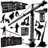 La construcción se opone vector Imagen de archivo