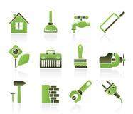 La construcción y la hace usted mismo los iconos libre illustration