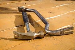 La construction d'outils se trouvent sur une table Photographie stock libre de droits