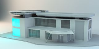 la construction 3d rendent Image libre de droits