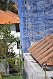 La construction de Bali, échafaudage en bambou, fonctionnent le coffre-fort Images libres de droits