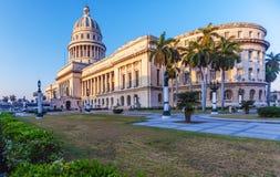 La construction de capitol, La Havane Images libres de droits