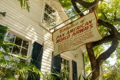 La construction de cela était le lieu de naissance de Pan Americn World Airways à Key West la Floride Etats-Unis image stock