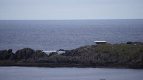 La construction de décor de film de faucon de millénaire de Star Wars en Malin Head, Irlande Images libres de droits