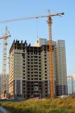La construction de l'immeuble Image libre de droits