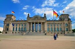 La construction de Reichstag à Berlin Images stock
