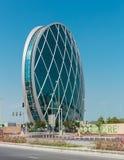 La construction de sièges sociaux d'Aldar est le premier o de construction circulaire photo stock