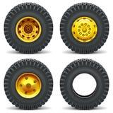 La construction de vecteur usine des roues Images stock