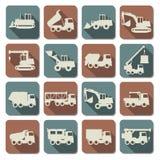 La construction de vecteur usine les icônes plates Photos libres de droits