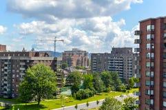 La construction des bâtiments chers de logement Photos libres de droits