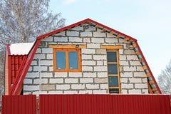 La construction des maisons de campagne du béton aéré Photos stock