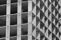 La construction du bâtiment, le cadre de bâtiment pendant la construction Photos libres de droits