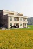 La construction du logement en Chine rurale Photo libre de droits
